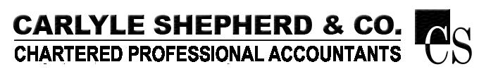 Carlyle Shepherd Chartered Professional Accountants